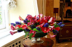 TFD flowers in a hotel