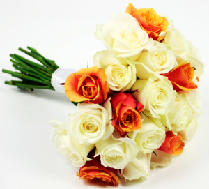 Wedding flowers London. Bridal rose wedding bouquet