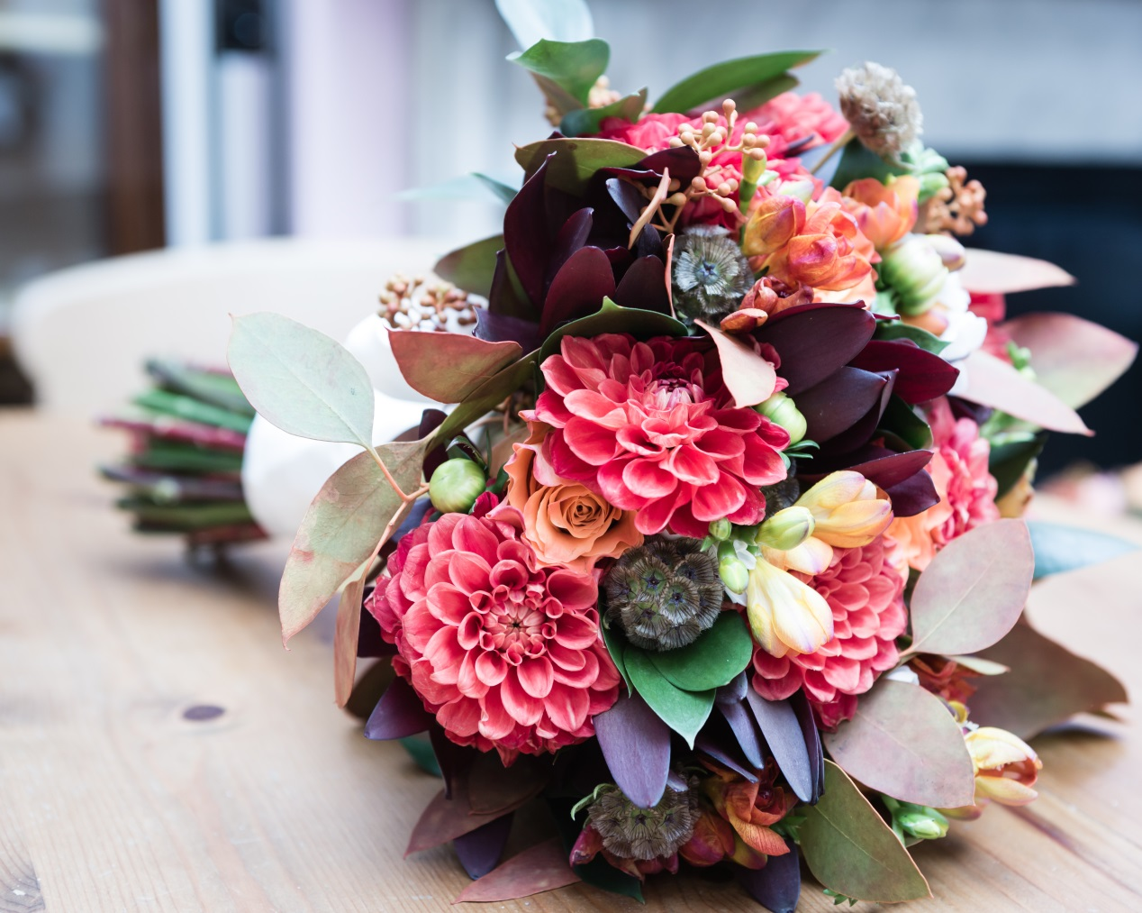 Autumnal Wedding Flower Bouquets London,  UK 1
