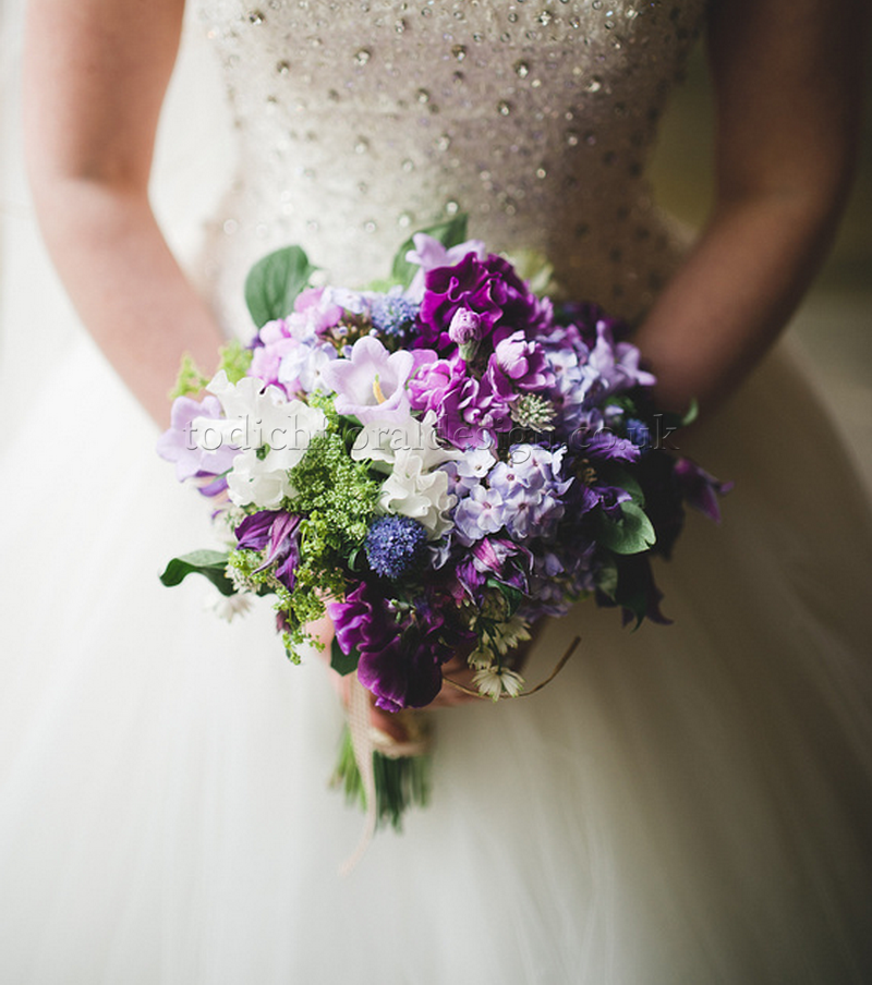 purple wedding bouquet styles