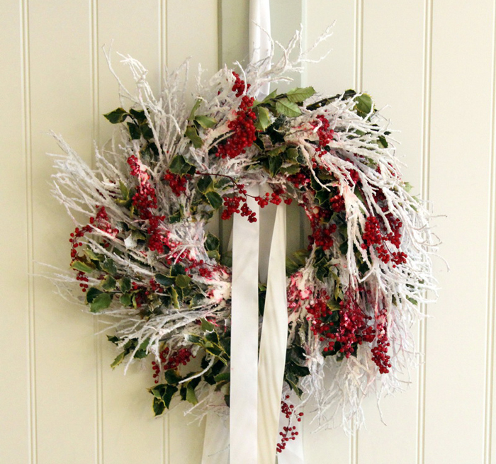 Snow-White-Greenary-Decorated-Christmas-Wreaths-Garlands-London-Florist-Todich-Floral-Design