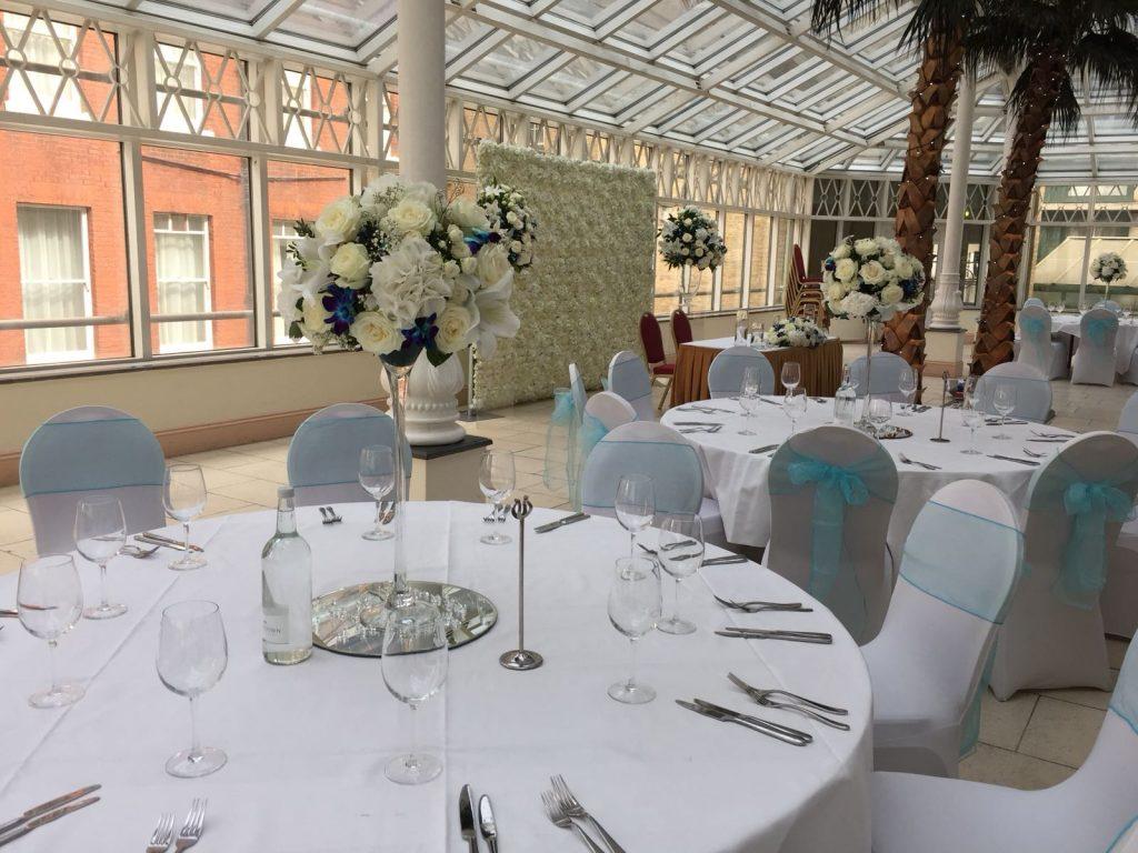 Summer Wedding Flowers Design Reception Millennium Gloucester Hotel
