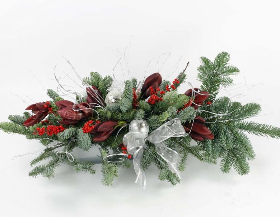 Christmas Flower Decorations.Christmas Flower Arrangements Floral Arrangements For