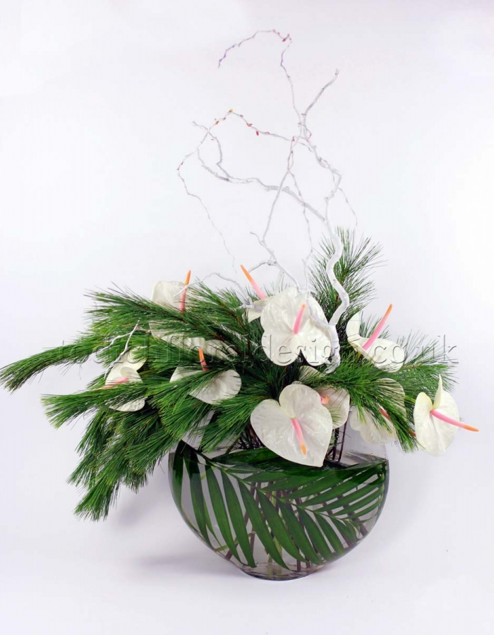 Modern xmas trees - Christmas Flower Arrangements Floral Arrangements For Christmas