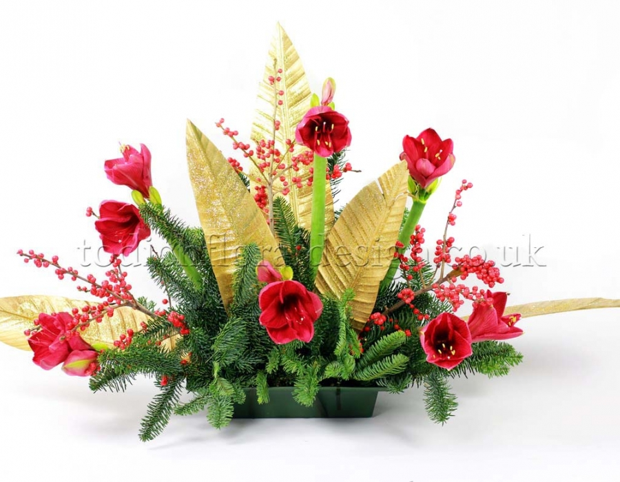 Christmas flower arrangements floral for