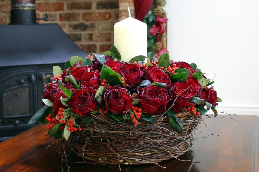Christmas Flower Arrangements Floral Arrangements For