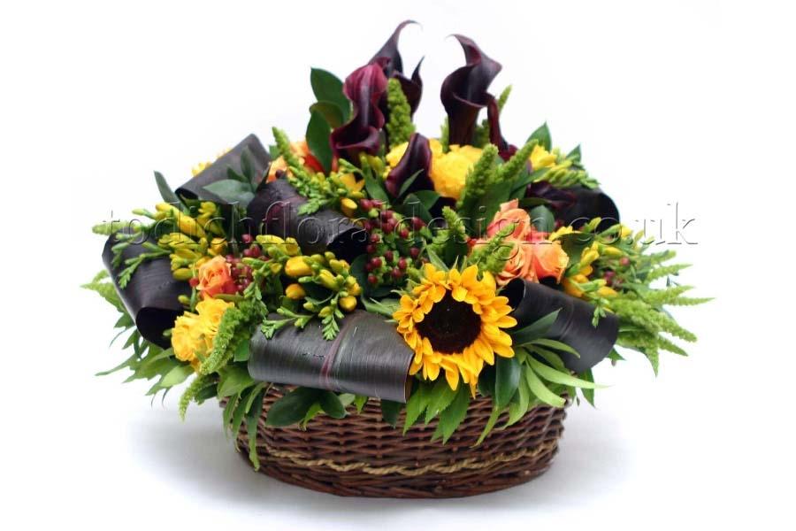 Flower Basket Arrangements Uk : Confetti flower baskets gallery