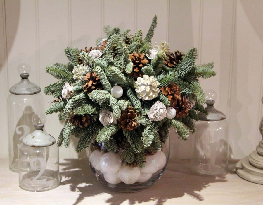 Christmas decorations gallery for Miniature tree decorated with sea shells