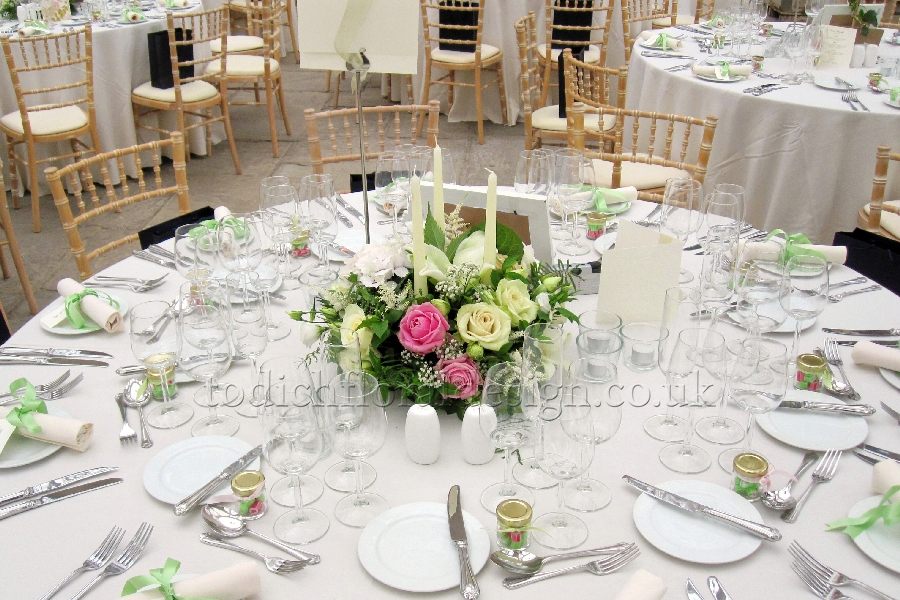 Wedding Reception Flowers London