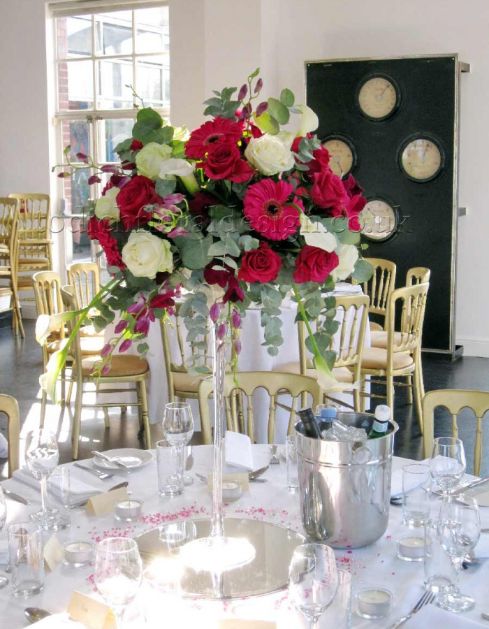 Tall Table Arrangements For Wedding Reception